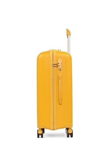Cengiz Pakel Kabin Boy-Orta 2'li Set Valiz Sarı